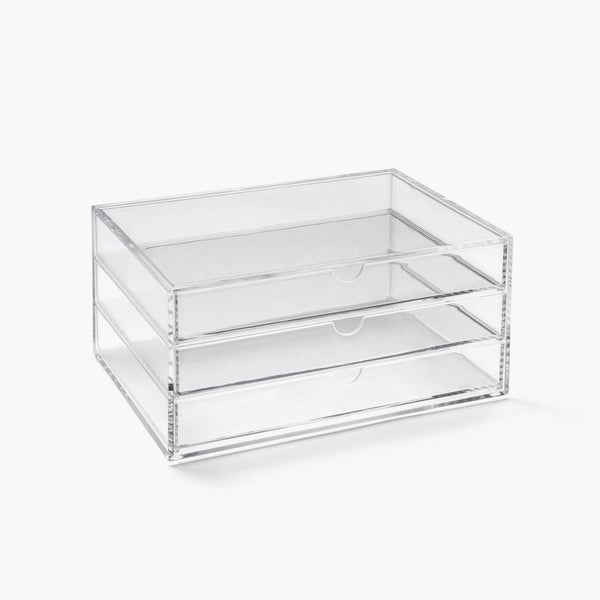 Osco Acrylic Makeup Organiser 3 Drawers Stackable A5 Medium