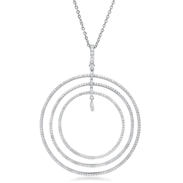 A circle motif 14kt gold plated fashion necklace.