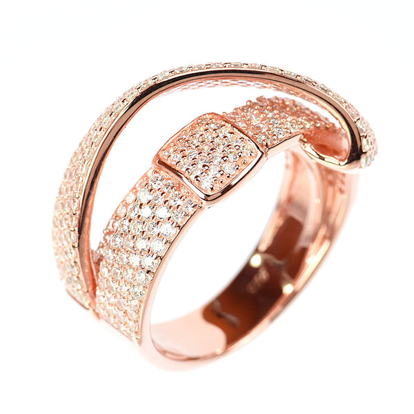 14kt gold plated  Pave set Fashion Ring