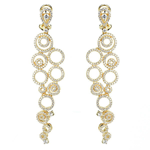 14kt gold plated gorgeous fashion drop earrings.