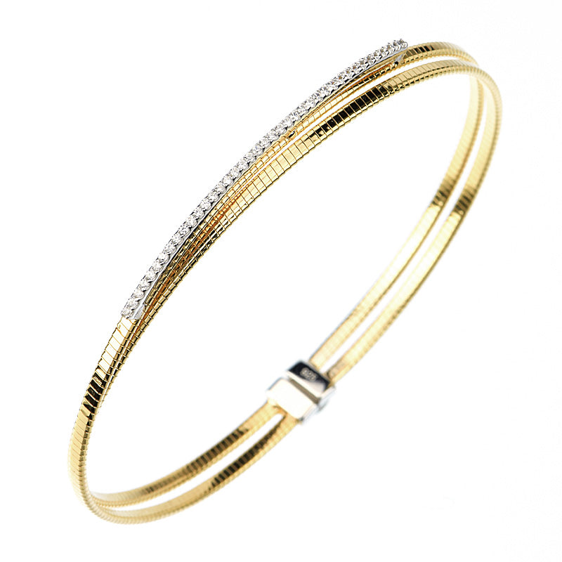 Beautiful Yellow 14kt gold plated bangle