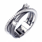 White gold/black rhodium14kt gold plated  color fashion ring