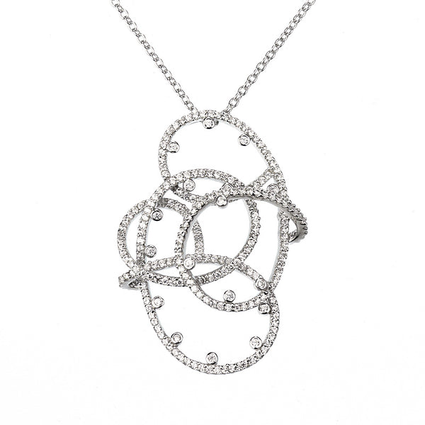 White gold plated set with Swarovski crystals fashion necklace