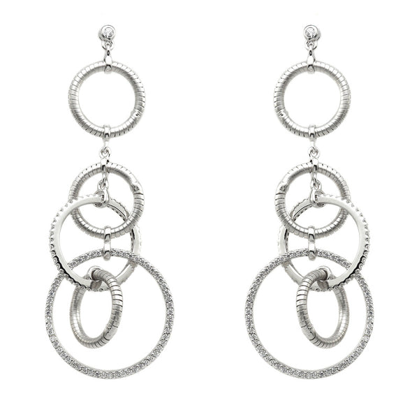 14kt gold plated circle dangling earrings