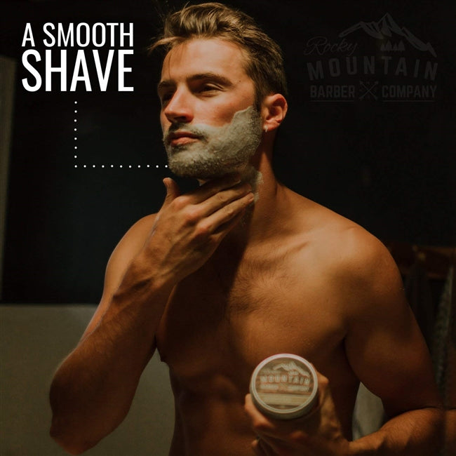 Sandalwood Scented Luxury Shaving Cream by Rocky Mountain Barber Company - 5 oz.