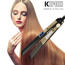 Load image into Gallery viewer, Professional Titanium Flat Iron Hair Straightener and Curler by Kipozi