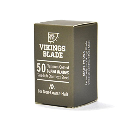 Swedish Steel Replacement Blades by Vikings Blade Box of 50