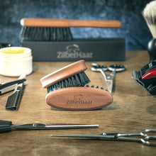 Load image into Gallery viewer, ZilberHaar Pocket Beard Brush – 100% Boar Bristles with Firm Natural Hair