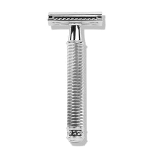 OUT OF STOCK - Double Edge Safety Razor with Anti-Aging Skin Care Trio bundle by Shaveology