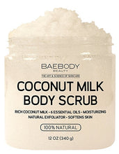 Load image into Gallery viewer, Baebody Coconut Milk and Dead Sea Salt Body Scrub - 12 oz.
