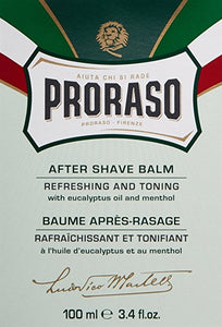 Proraso Aftershave Balm, 3.4 fl oz