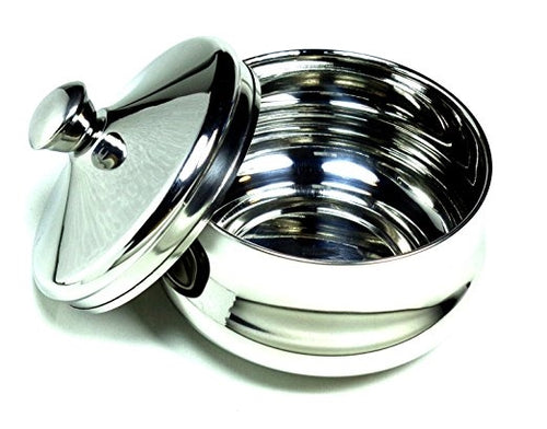 Stainless Steel Shaving Bowl with Lid by Schöne