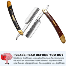 Load image into Gallery viewer, Japanese Steel Straight Razor by Naked Armor