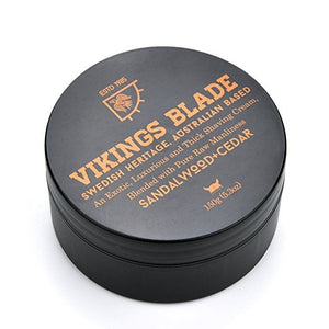 Luxury Foaming Shave Cream by Vikings Blade - 5.3 oz.