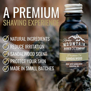 Sandalwood Scented Pre-Shave Oil by Rocky Mountain Barber Company - 1 oz.