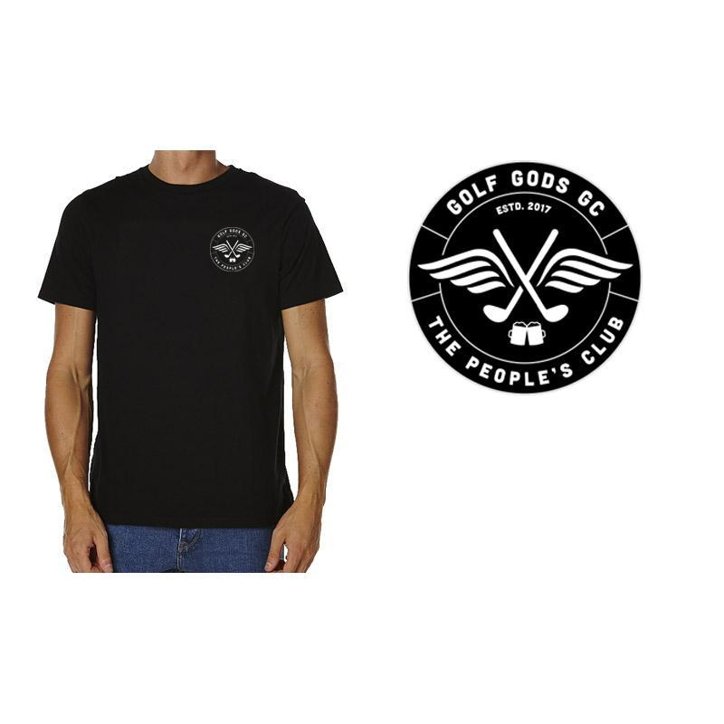 Golf Gods GC - GGGC Club Cotton Tee in Black
