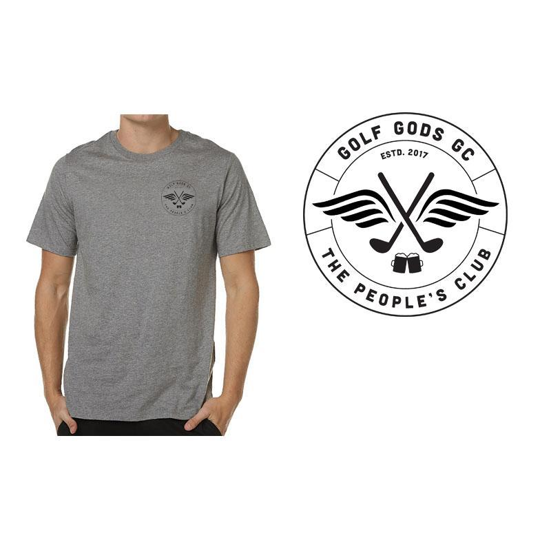 Golf Gods GC - GGGC Club Cotton Tee in Grey