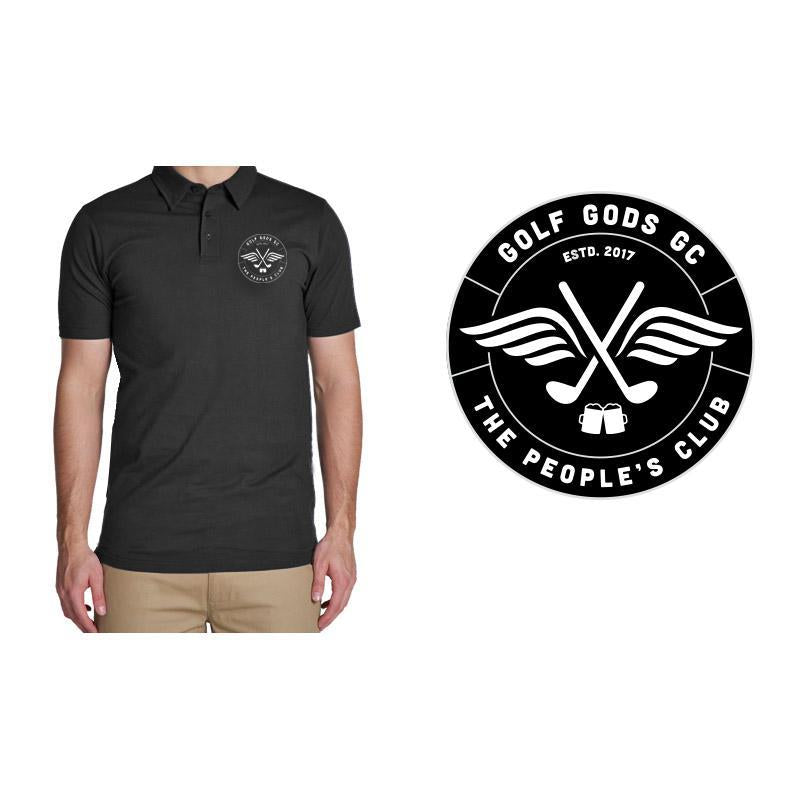 Golf Gods GC - GGGC Official Club Polo in Black