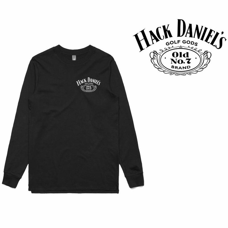 Golf Gods - Hack Daniel's Long Sleeve T-Shirt (Small Logo)