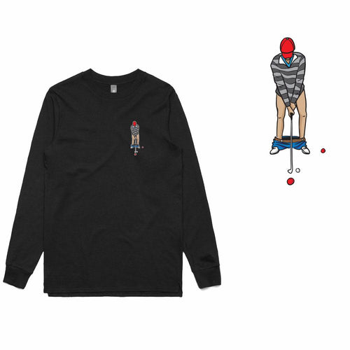 Golf Gods - Pants Down Long Sleeve T-Shirt