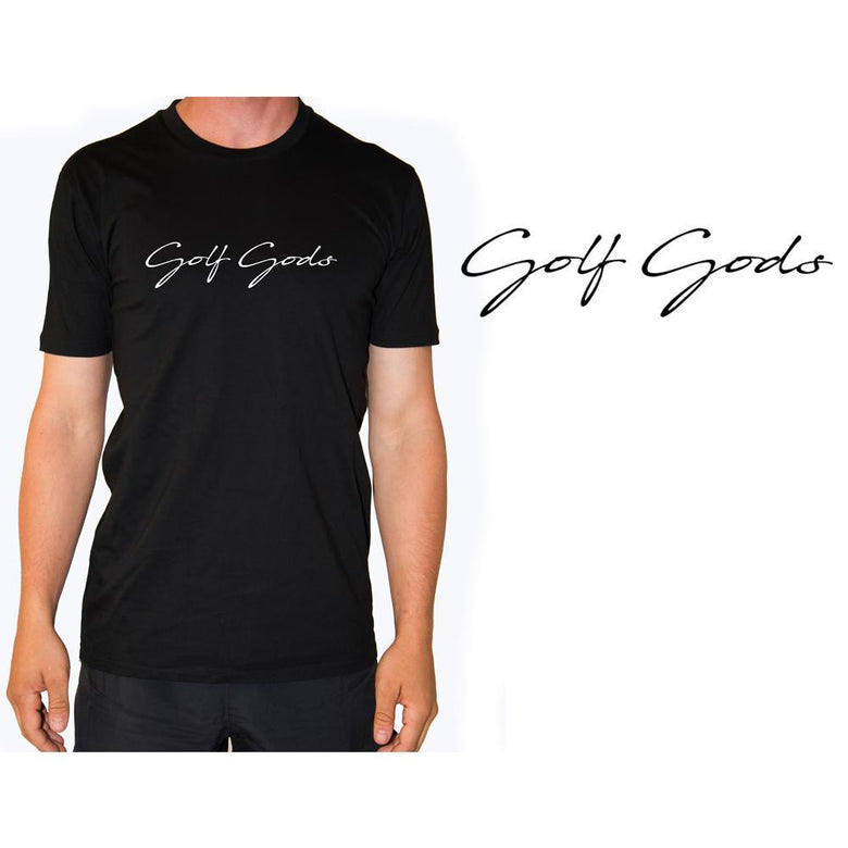 Golf Gods - Script T-Shirt in Black