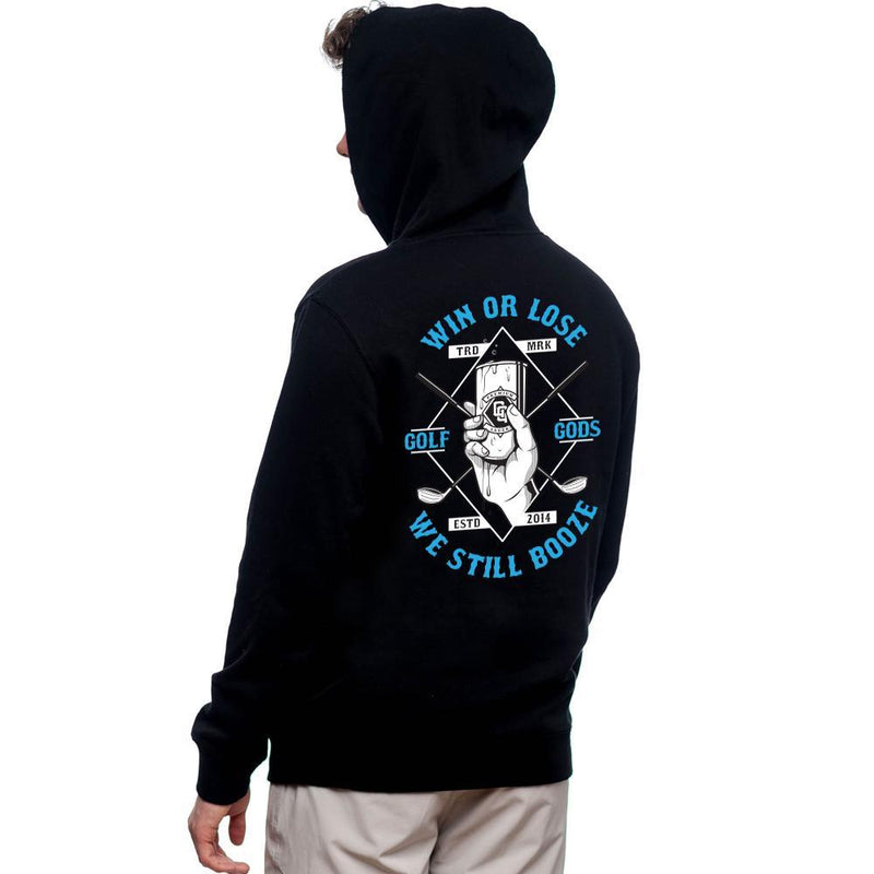 Golf Gods - Win or Lose We Still Booze Hoodie