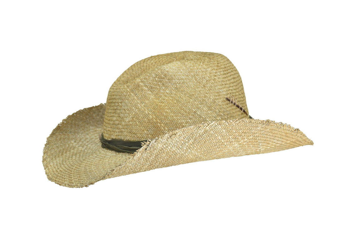 Lina- Straw Cowboy Hat, Sage Medium