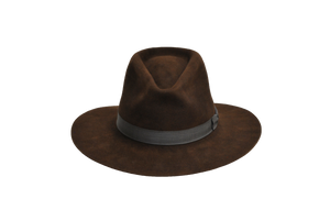 Indiana Jones Chocolate Fur Felt Hat front view