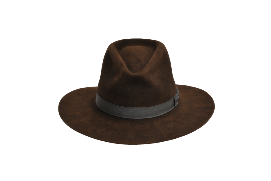 Indian Jones Chocolate Fur Felt Hat