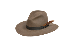 The Brook - Women's 100% Natural Beaver Fedora-Hats-TrueWestHats
