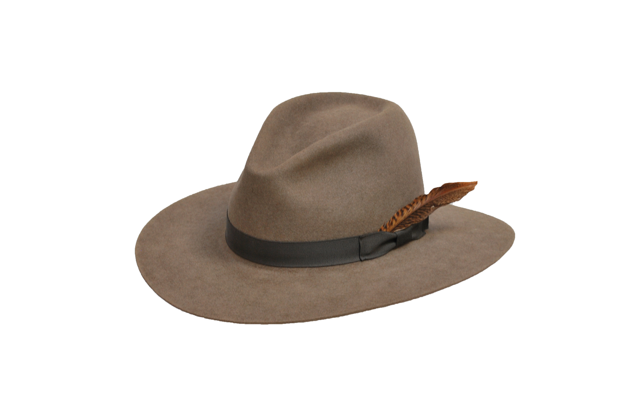 7432a1564af The Brook - Men s 100% Natural Beaver Fedora - TrueWestHats