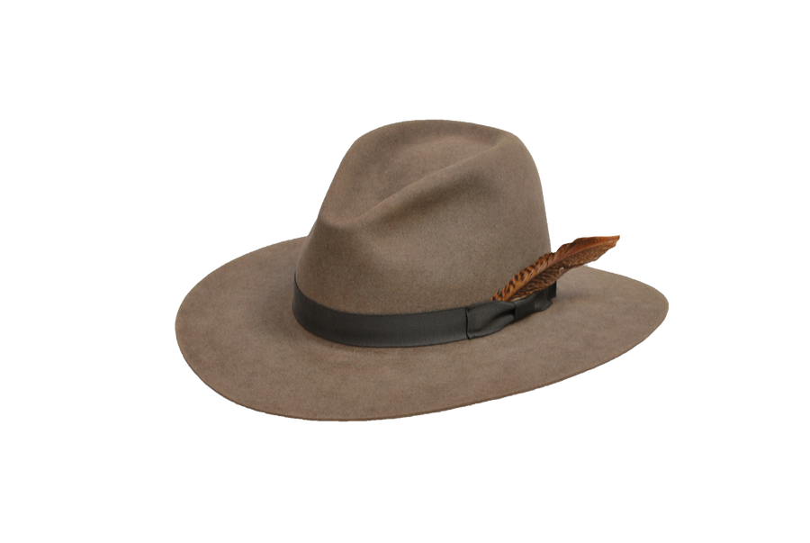 The Brook - Women's 100% Natural Beaver Fedora