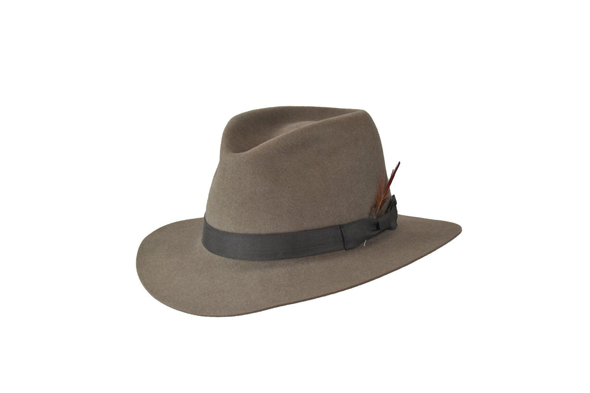 Men's Pure Natural Beaver Fedora Short Brim-Hat-TrueWestHats