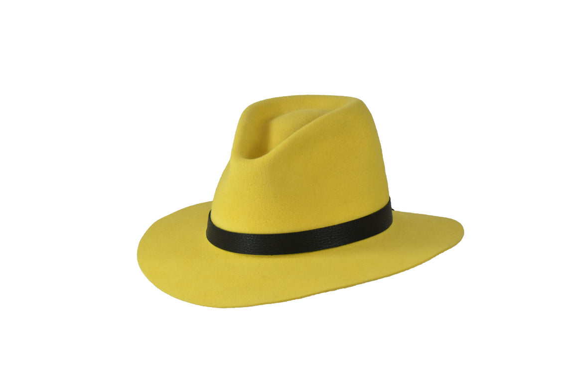 Yellow European Hare Fur Felt Hat-Hats-TrueWestHats