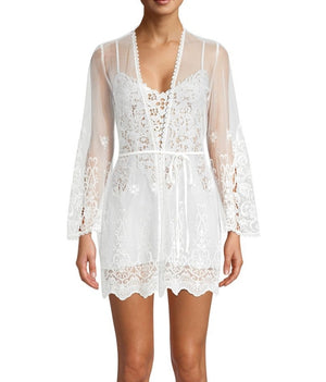 IN BLOOM VINTAGE CROCHET LACE ROBE - Expect Lace