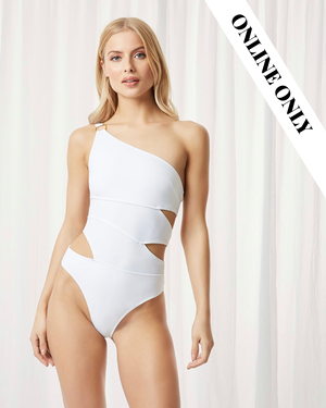 SAMAR SWIMSUIT WHITE - Expect Lace