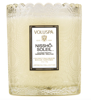 VOLUSPA NISSHO-SOLEIL SCALLOPED EDGE CANDLE