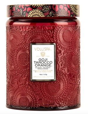 VOLUSPA GOJI TAROCCO ORANGE LARGE JAR CANDLE