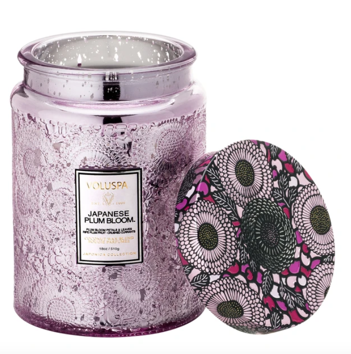 VOLUSPA JAPANESE PLUM BLOOM LARGE JAR CANDLE