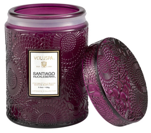 VOLUSPA SANTIAGO HUCKLEBERRY SMALL JAR CANDLE