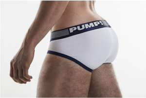 PUMP NAVY RIBBED BRIEF
