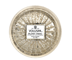 VOLUSPA BLOND TABAC EXTRA LARGE GRANDE MAISON 3 WICK GLASS CANDLE - Expect Lace