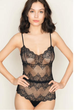 ONLY HEARTS SO FINE LACE CHEEKY BODYSUIT