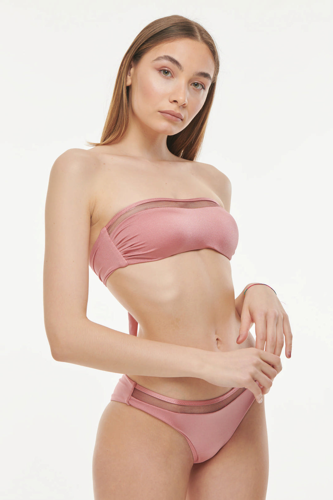 IRIDESCENT BANDEAU TWO PIECE