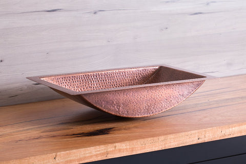 Drop In Copper Bathroom Basin