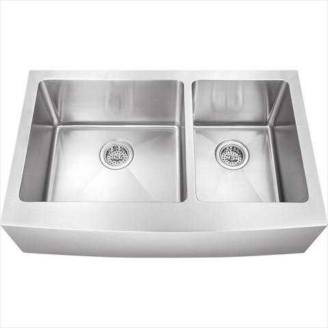 Stainless Steel Double Butler Offset Sink