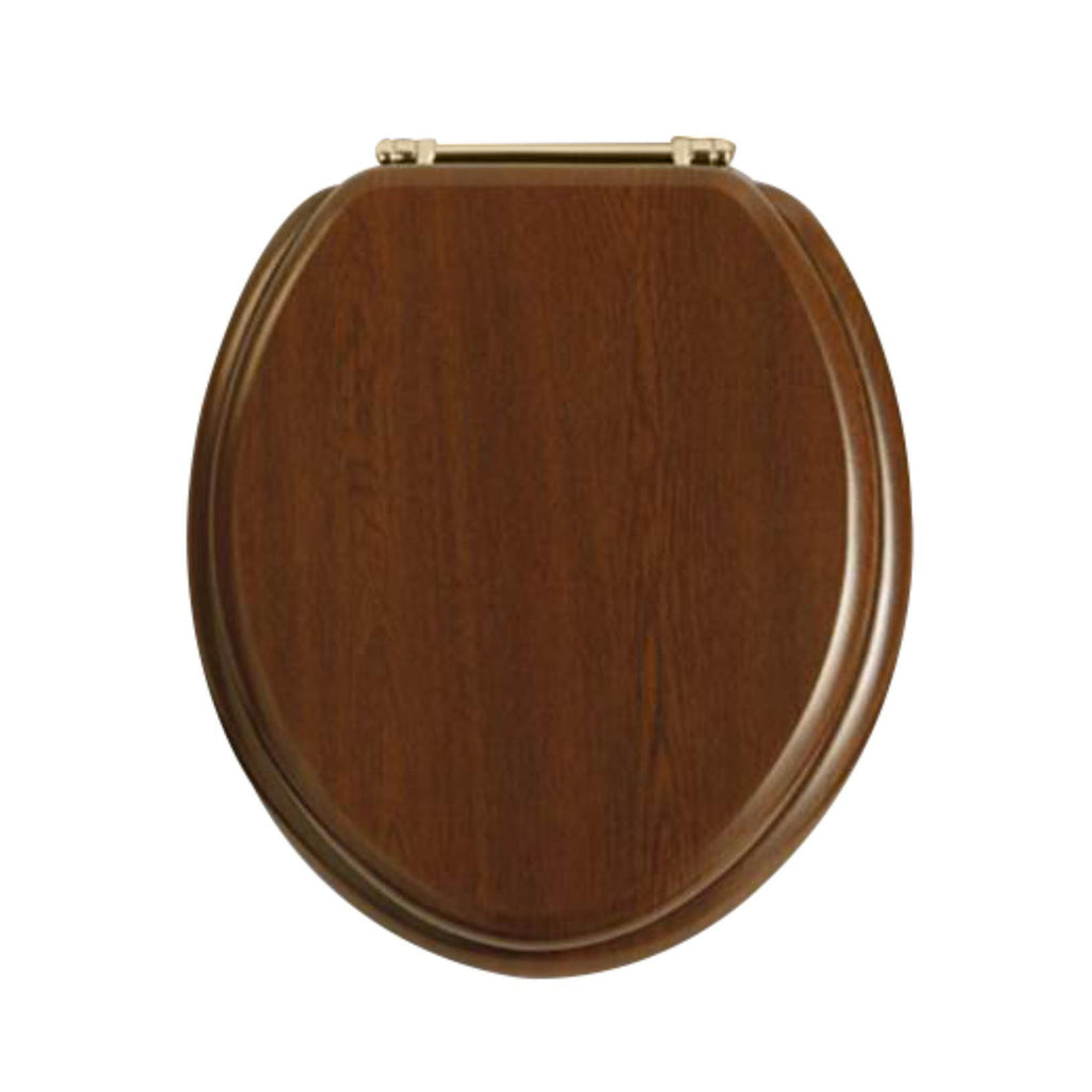 HB - Toilet Seat Dark Timber / Gold