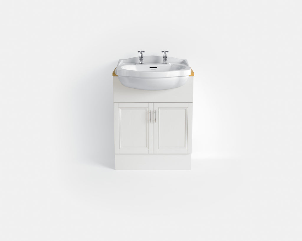 HB - Sink Vanity Double Cupboard White
