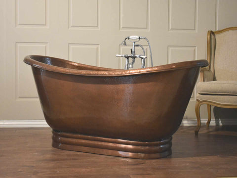 Copper Freestanding Apron Bath