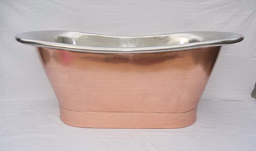 Copper Freestanding Roll Bath